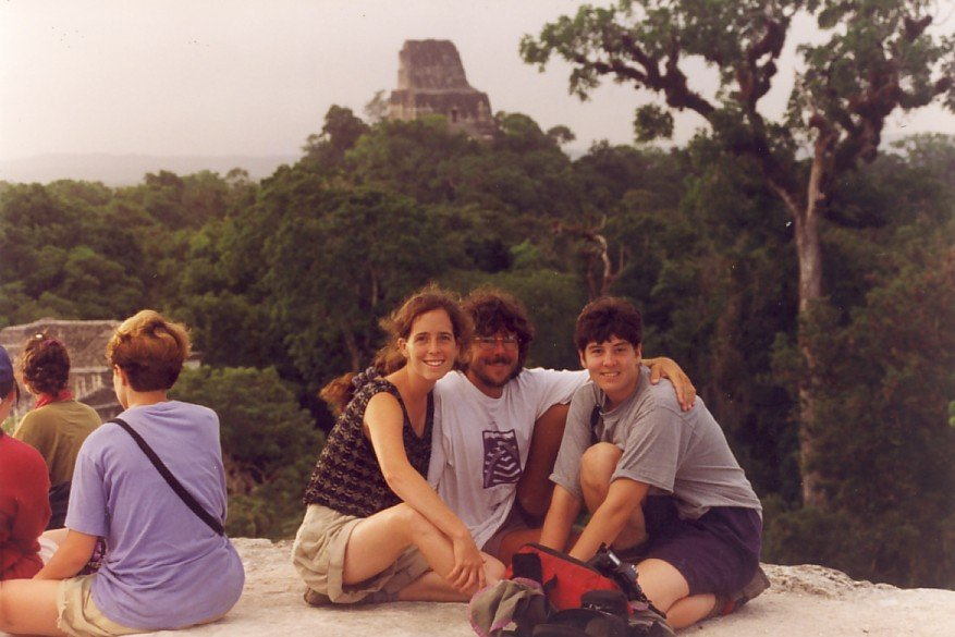 Jane with students in Belize