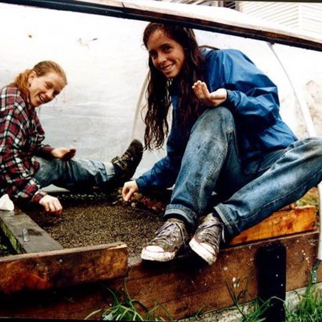 Inspired to engage life, Jane in California planting seeds
